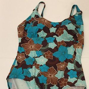 Krista Swimsuit Swimwear Built-In Bra Flowers sz14